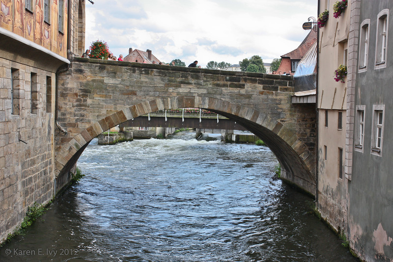 Looking upstream on the Regnitz, from the untere Brücke