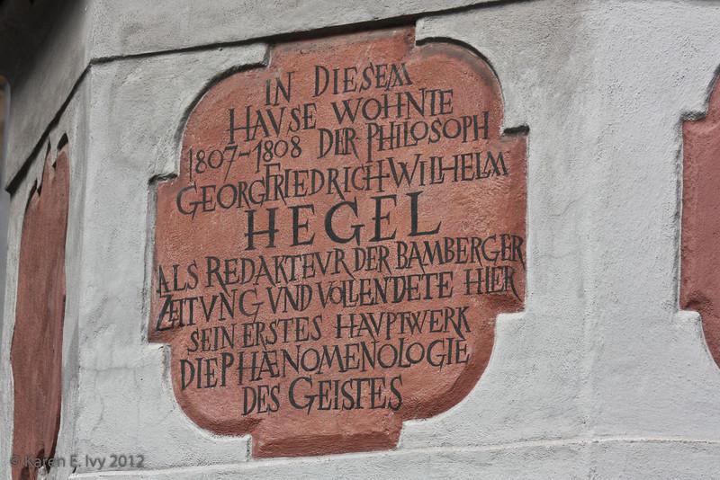 Hegel's house, plaque