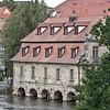 Old slaughterhouse on the Regnitz, just downstream of the lower bridge (untere Brücke)