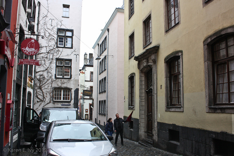 Alley, Cologne, with Poncho's Argentinisches Steakhaus