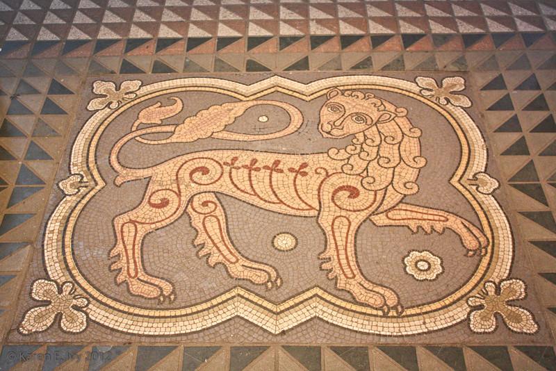 Tile floor, Great St. Martin