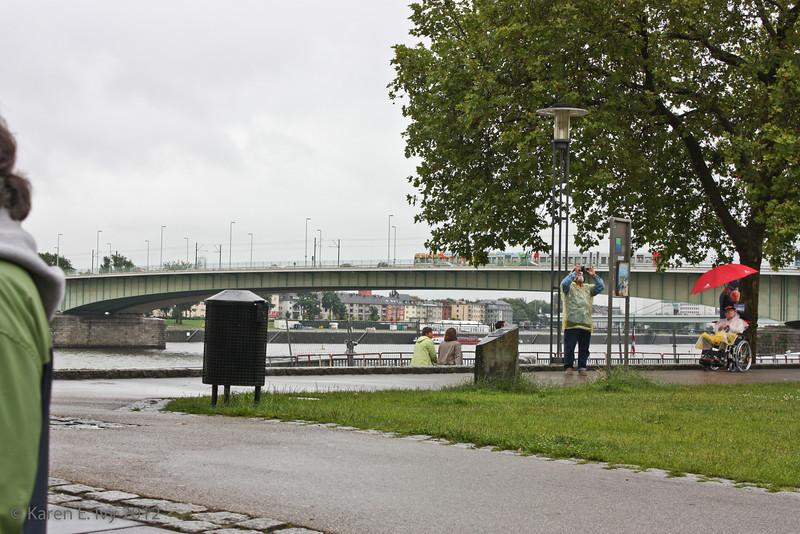 Deutzer Bruecke, over the Rhine