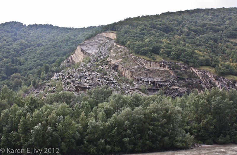 Remains of an amazing rockslide, on the Danube
