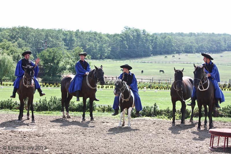Csikos cowboys demonstrating horsemanship
