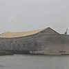 Noah's Ark replica, on riverbank