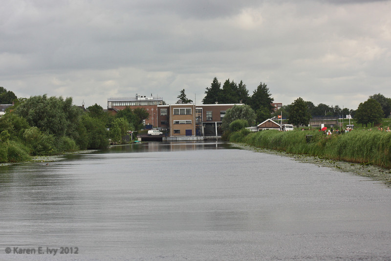 Kinderdijk, canal and pumping station