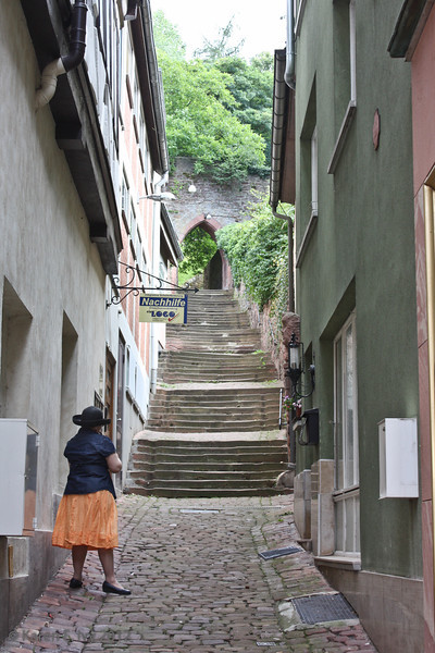 Steps up to the castle wall