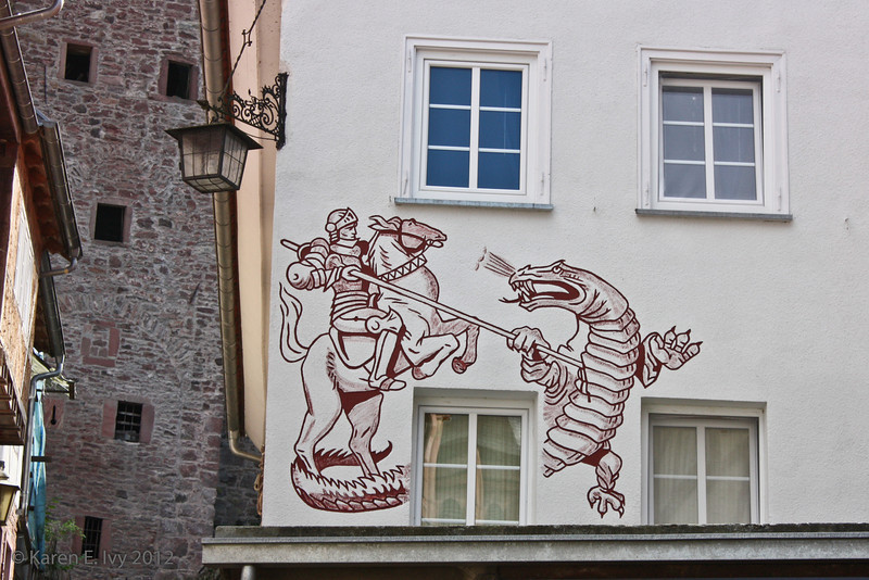Mural of St. George and the Dragon