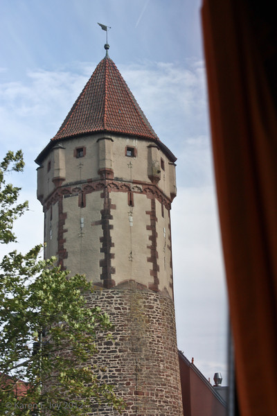 Pointed Tower of Wertheim - it leans because of 800 years of flooding