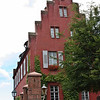 """Miltenberg - house with a """"crow-stepped"""" gable"""