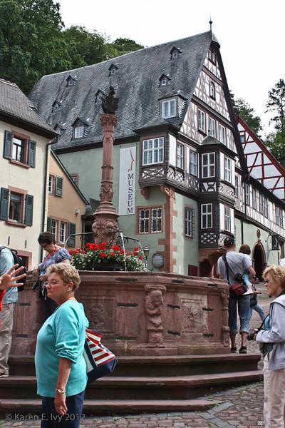 Miltenberg town square fountain