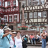 Miltenberg town square with fountain and Embla passengers