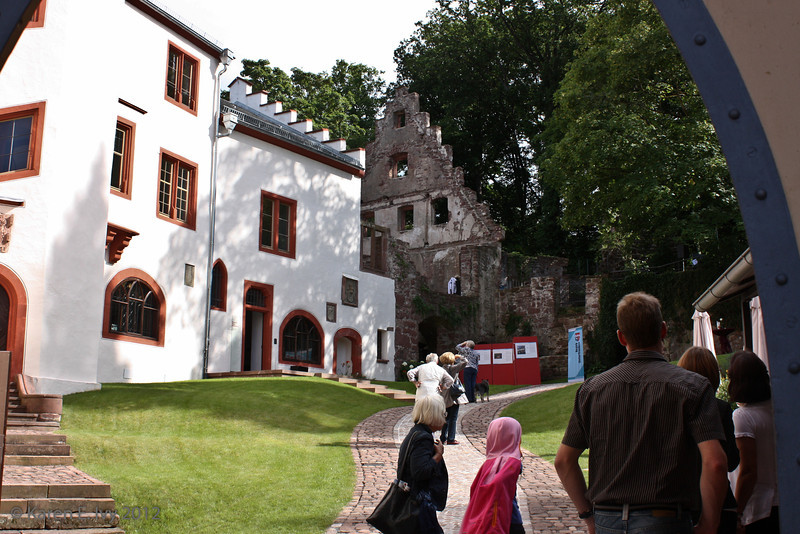 Miltenberg castle courtyard