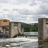 River engineering on the Main, at a lock