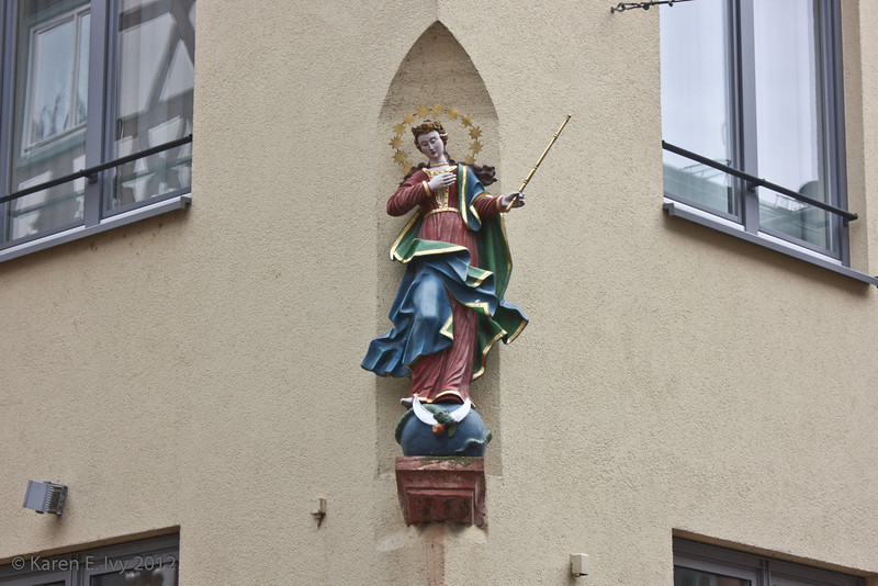 Religious image on building
