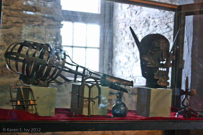 Torture instruments, in the former stable