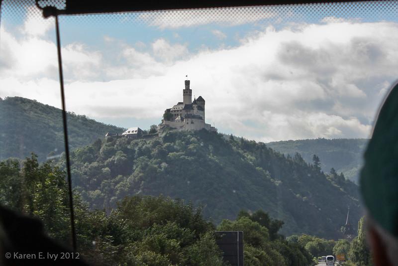 Marksburg Castle, from bus