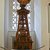 A wooden clock, working