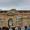 Approaching Melk Abbey in the rain, it poured that day