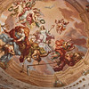 Detail of Melk Abbey church ceiling