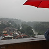 Wachau Valley and Danube, in a pouring rain, from the Terrace