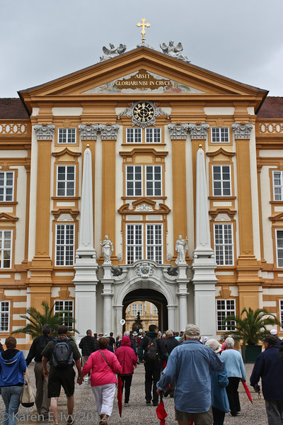 Entering the courtyard at Melk