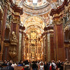 Melk Abbey church, view down the nave