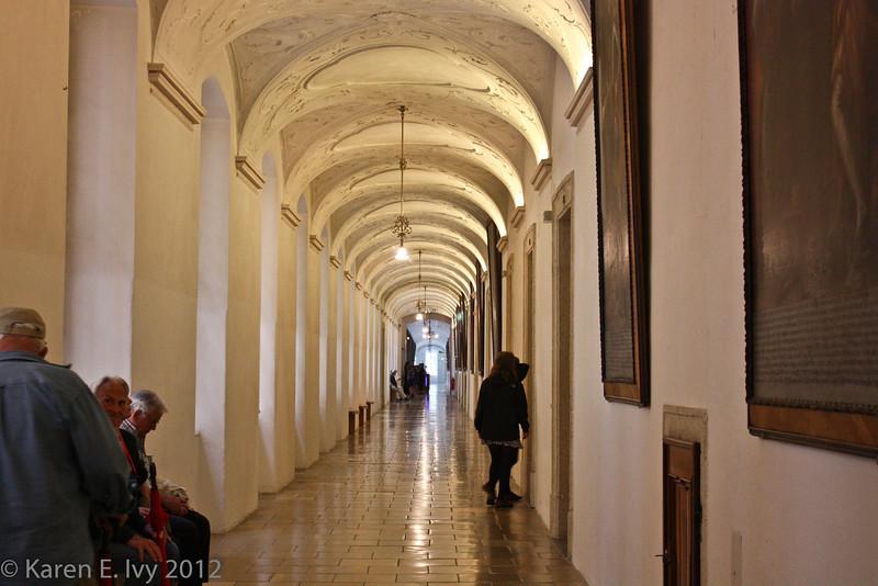 Corridor outside the Melk Museum