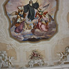 Painted ceiling, probably St. Benedect with his Rule
