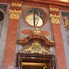 Marble Hall, detail - the medallion has a quote from the Rule of St. Benedict