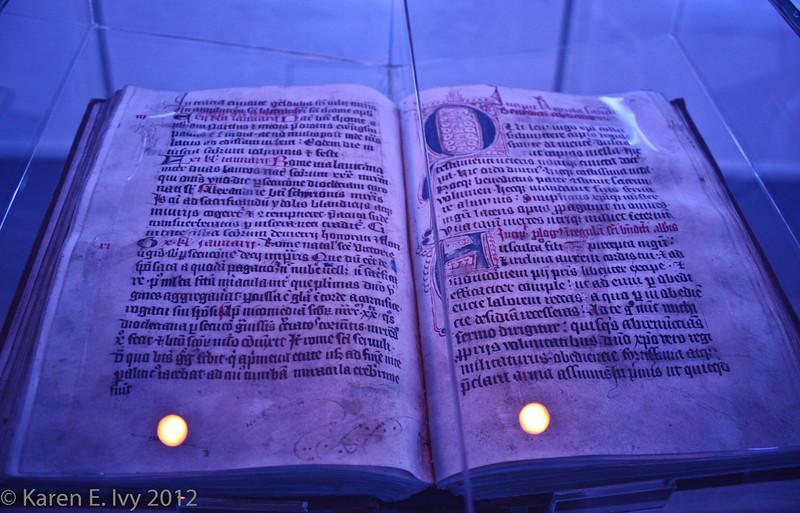 Medieval manuscript, Melk.  More impossible lighting.
