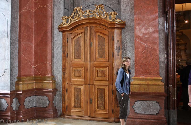 Marble Hall, door detail