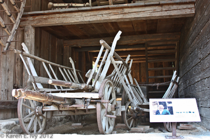 Remains of wagons