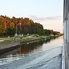Cruising the Main-Donau Canal at sunset