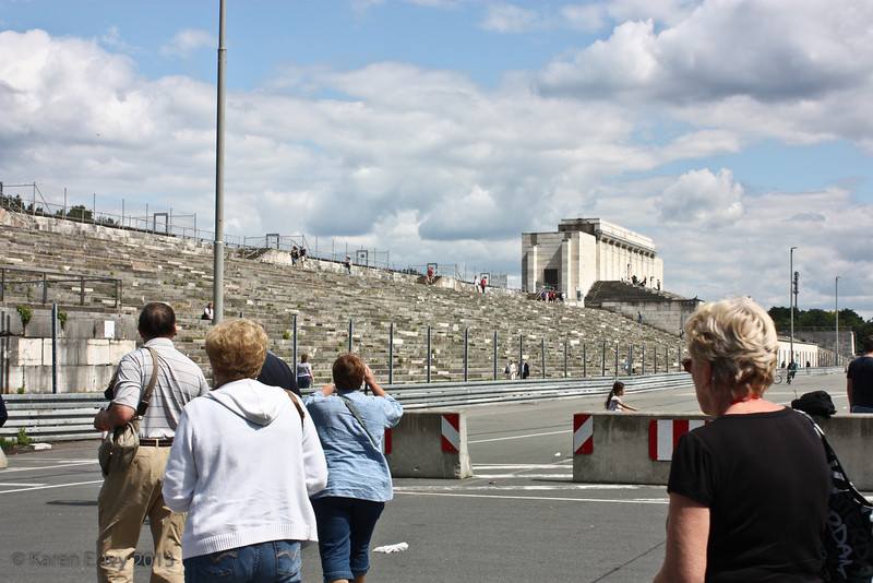 Zeppelin Field stands, where the big Nazi rallies were held