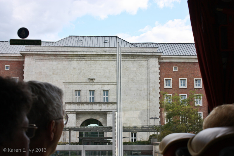 Congress Hall gate - one more bus shot but the only clear shot I got of this