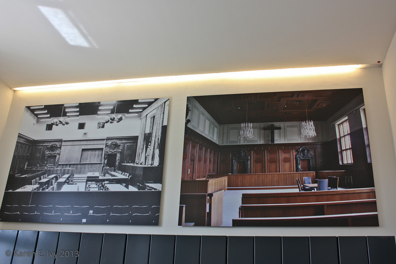 Views of the courtroom, then and now (it's still in use)