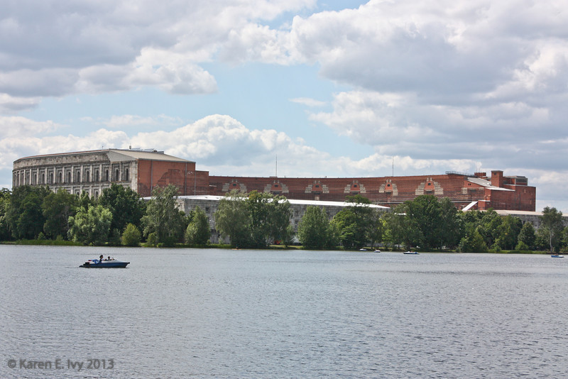Hitler's Congress Hall, viewed across the Grosser Dutzendteich (which seems to translate as Big Dozen Pond)