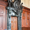 Door ornament inside courtroom