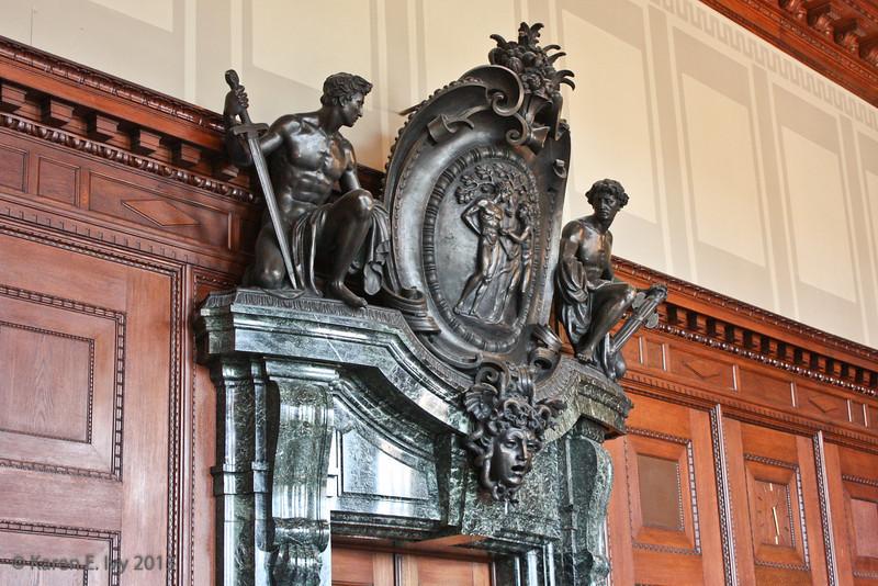 Door ornament inside courtroom