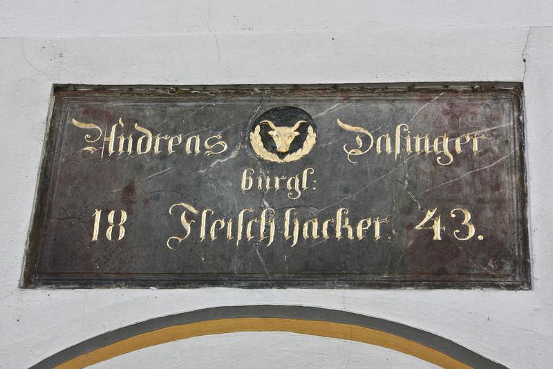 A tradesman's sign