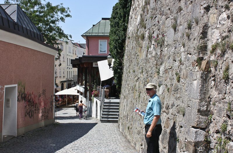 Walking away from the Dom through Passau