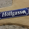 Street sign in Höllgasse
