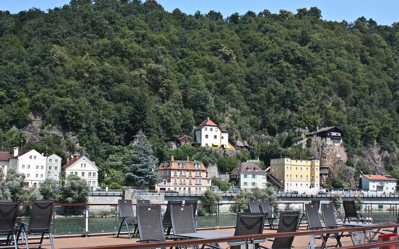 Passau from the Embla sun deck