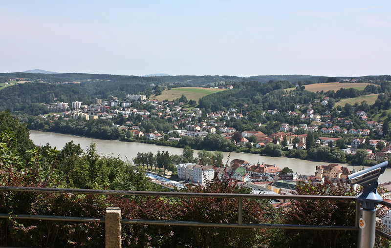 Passau, the Inn flowing into the Danube