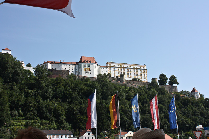 The Veste Oberhaus, former fortress of the bishops of Passau.  The date on the facade is 1499 but the building was begun in the 13th century.