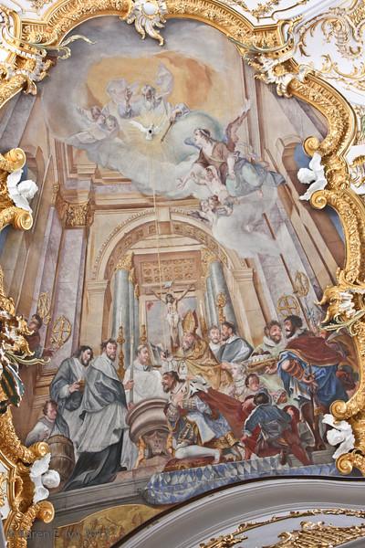 Alte Kapelle, ceiling