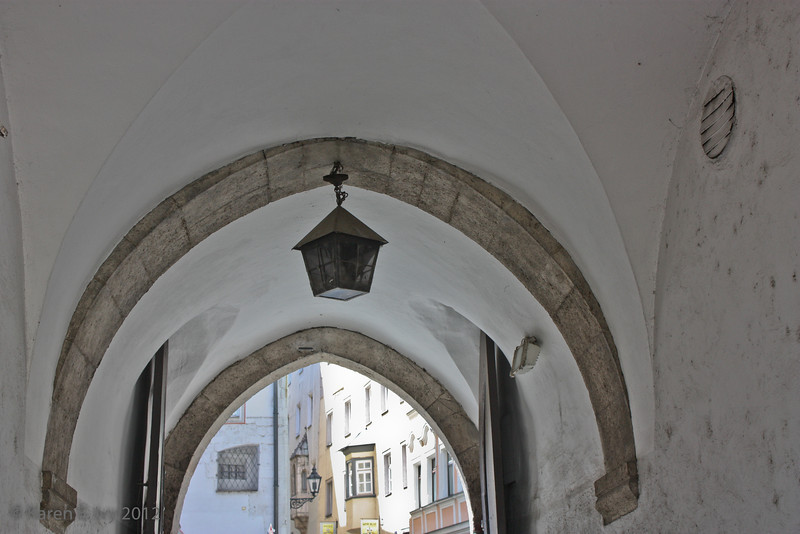 Medieval stonework arches, still in use