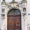"Old portal. The sign says ""Protestantisches Alumneum"". The word ""Alumneum"" was used for Protestant religious schools that emerged out of former monasteries. This building still houses a religious fellowship."