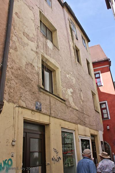 In the very old quarter of Regensburg